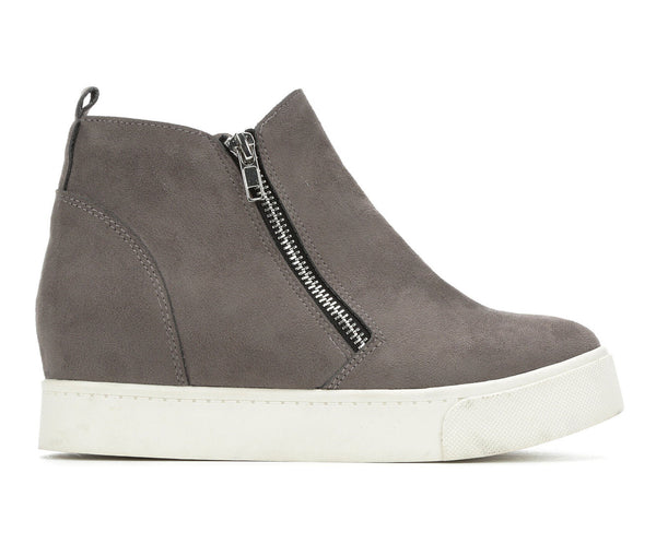 Taylor Wedge Sneakers - Gray