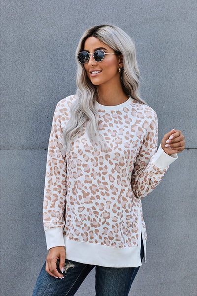 Leopard Loose Fit Long Sleeve Top