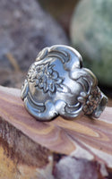 Ethel Antique Spoon Ring- Size 7.5
