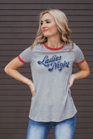 LADIES NIGHT GRAPHIC TEE