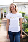 VOGUE GRAPHIC TEE - GOLD