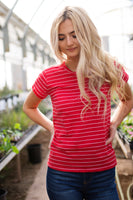 McCOY STRIPED TOP - RED
