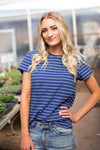 McCOY STRIPED TOP - NAVY