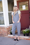 JENNINGS JUMPSUIT - HEATHER GRAY