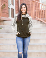 QUINN DOUBLE HOODIE - OLIVE