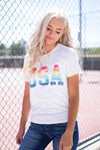RAINBOW USA GRAPHIC TEE