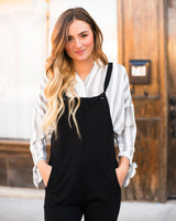 KINSLEY TIE OVERALLS - BLACK