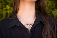 CRESCENT MOON PENDANT NECKLACE - DALMATION