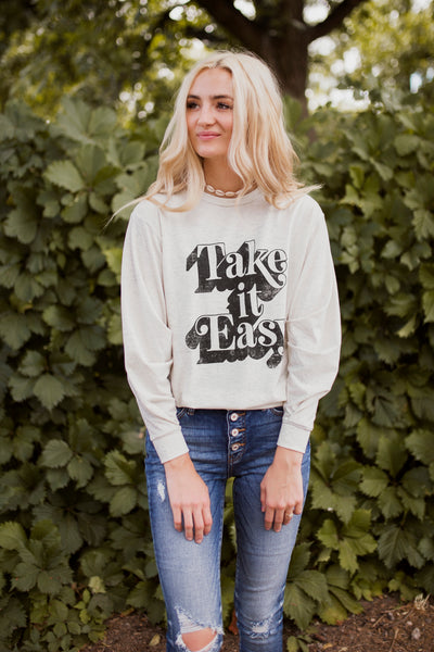 TAKE IT EASY PULLOVER - OATMEAL