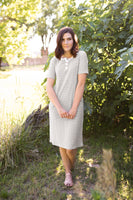 KYLEE T-SHIRT DRESS - GRAY
