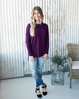 JENNA SOFT SWEATER - PLUM