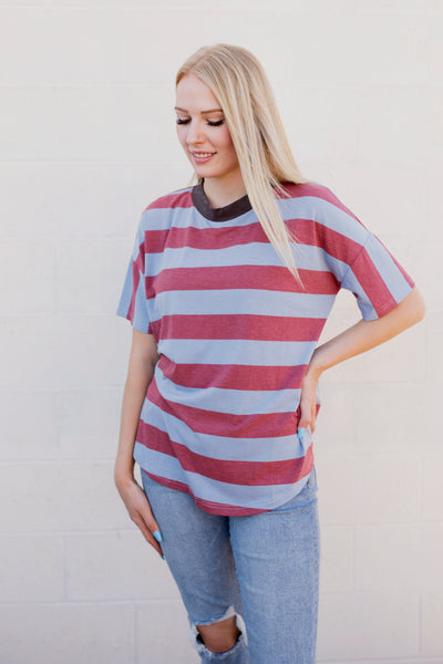 GRANT STRIPED TEE