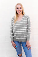 PATTERSON SWEATER - GREY STRIPE