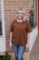 OUTSIDE THE BOX TOP - BROWN