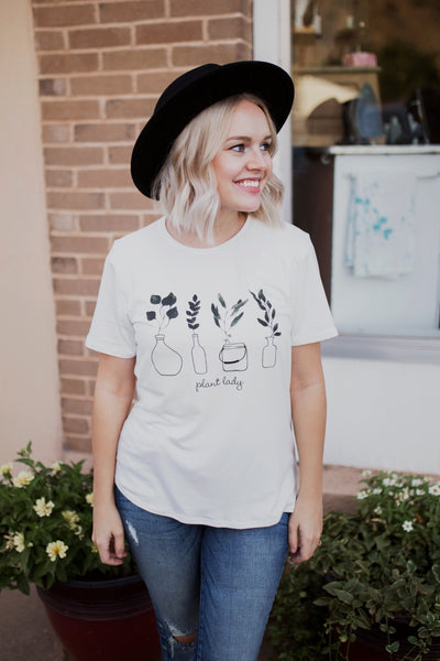PLANT LADY GRAPHIC TEE - IVORY