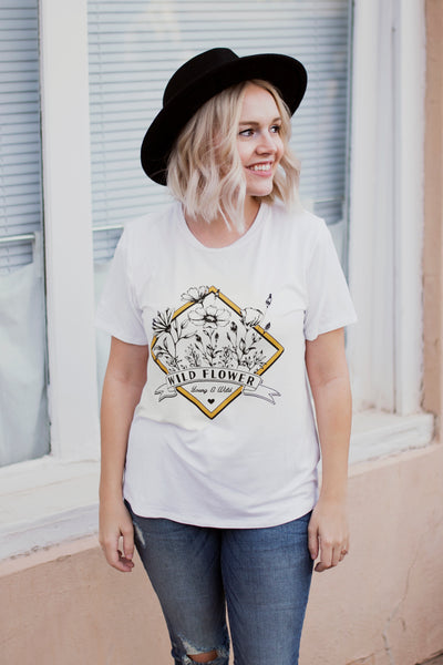 WILD FLOWER GRAPHIC TEE - IVORY
