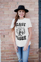 EASY TIGER GRAPHIC TEE - IVORY