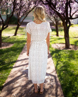 HARLOW POLKA DOT DRESS - IVORY