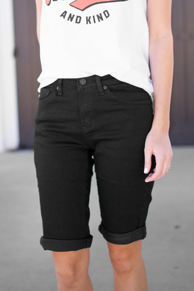 KANCAN BLACK BERMUDA SHORT *RESTOCKED*