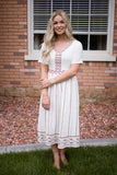 ZURI EMBROIDERED DRESS - CREAM