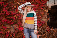 PERRY COLOR BLOCK SWEATER