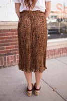 WILD THING PLEATED SKIRT - LEOPARD