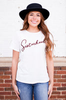 SISTERHOOD EMBROIDERED TEE