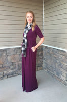 MILA MAXI DRESS  - PLUM