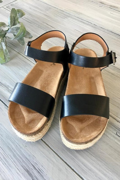 CABO SANDAL - BLACK **Size 6 Only** CLOSE OUT!