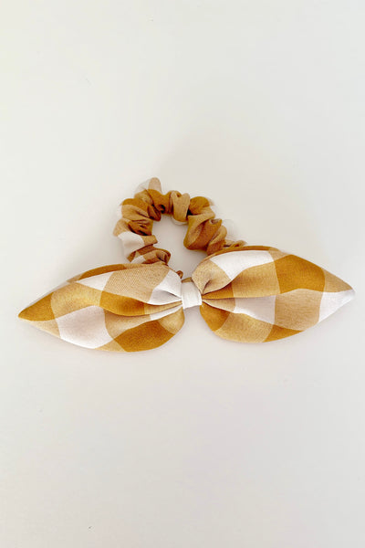 KNOTTED BOW SCRUNCHIE - BUTTERSCOTCH BUFFALO