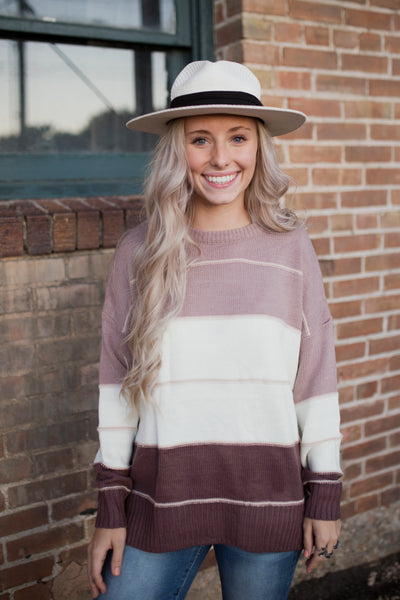DAWSON COLORBLOCK SWEATER - MULTI