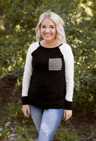 MURRAY ELBOW PATCH SWEATER - BLACK