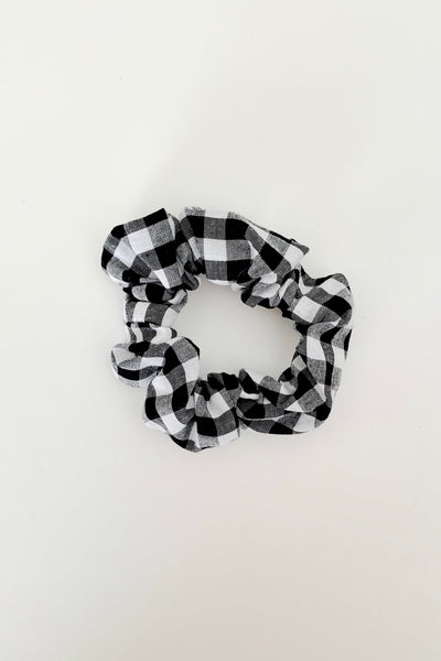 HAIR SCRUNCHIE - BLACK GINGHAM