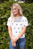 MARCELO EMBROIDERED TOP - IVORY