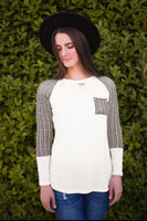 ROYCE RAGLAN TOP - IVORY