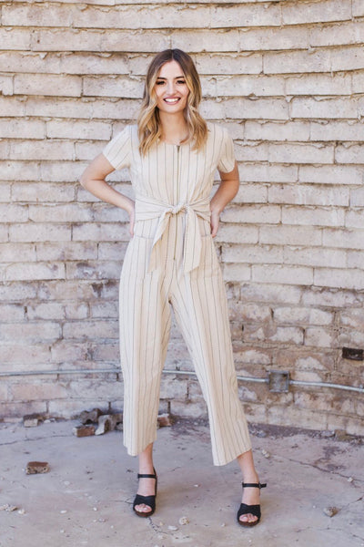 DELTA ZIPPER JUMPSUIT - NATURAL