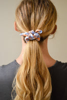 KNOTTED PLAID SCRUNCHIE