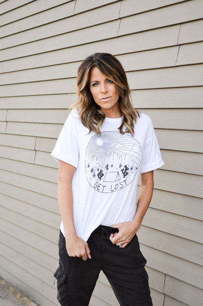 GET LOST GRAPHIC TEE - IVORY