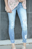 KANCAN LIGHT WASH DISTRESSED JEAN