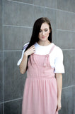 HADLEY TIE OVERALL DRESS - MAUVE