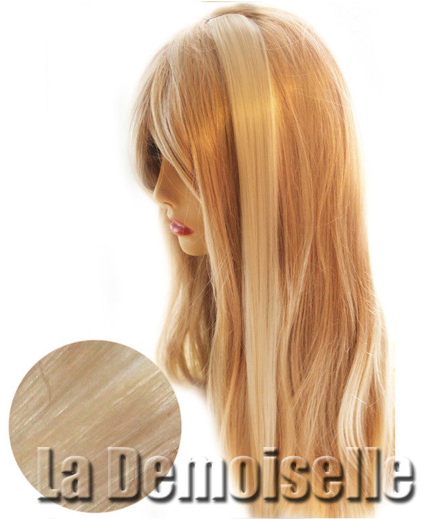 Clip In Straight Synthetic Hair Extensions Pearl Blonde Splash Of