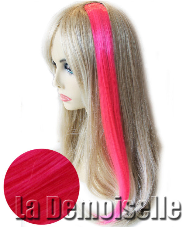 Clip In Straight Synthetic Hair Extensions Pink Splash Of Fantasy