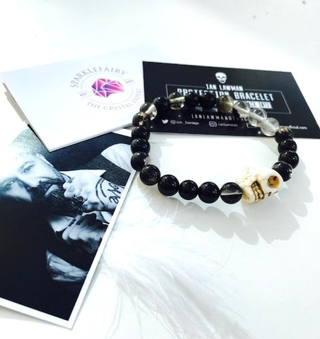 Ian Lawman Protection Bracelet White Skull