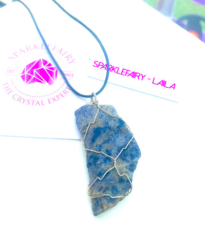 Lapis (high grade) wire wrap