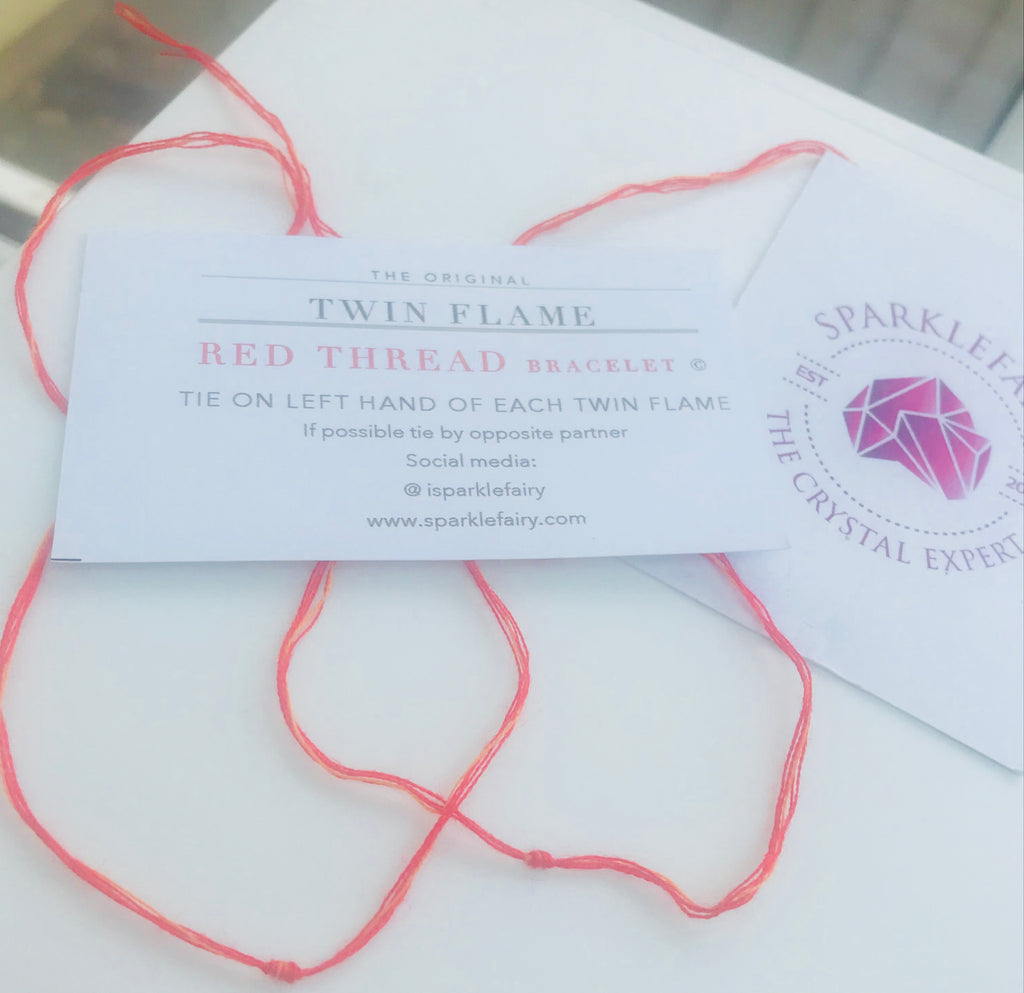 Twin Flame Bracelets (red thread)