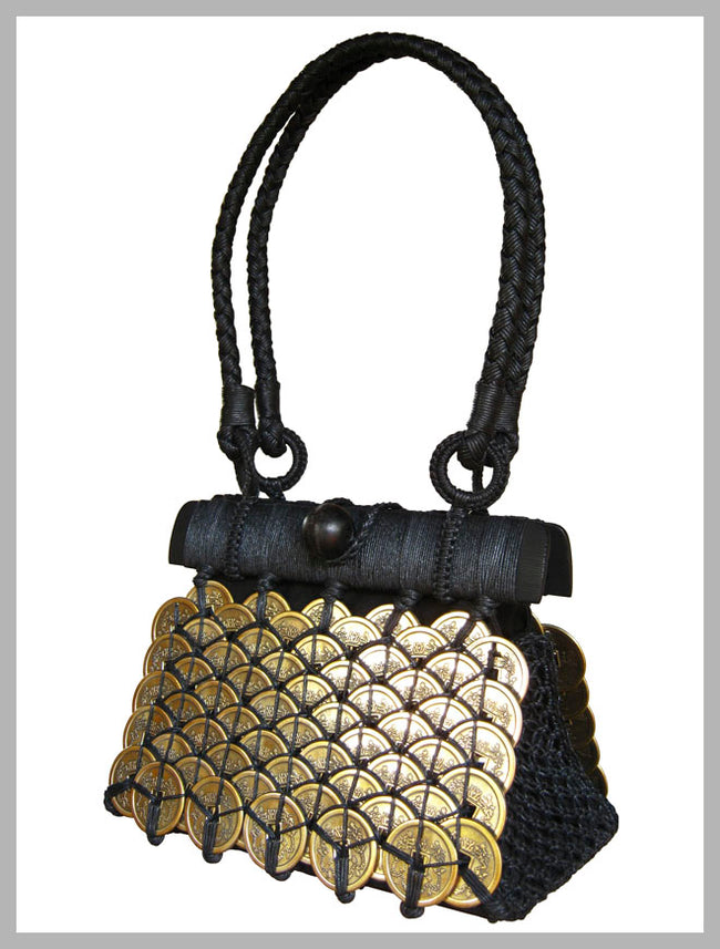 Earth Friendly ~ Shala Brass Bag
