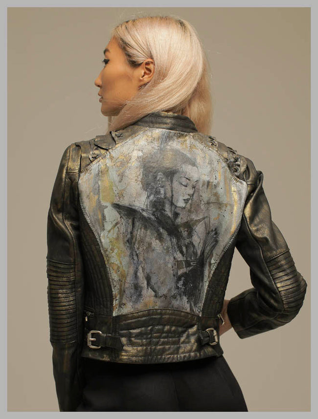 Geisha leather jacket