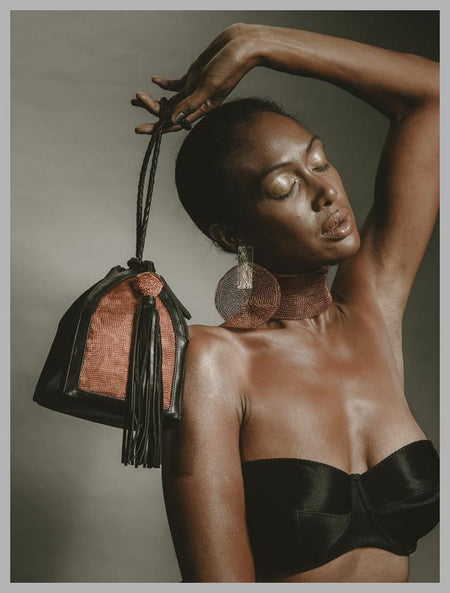 Sumba Copper Borneo Bucket Bag