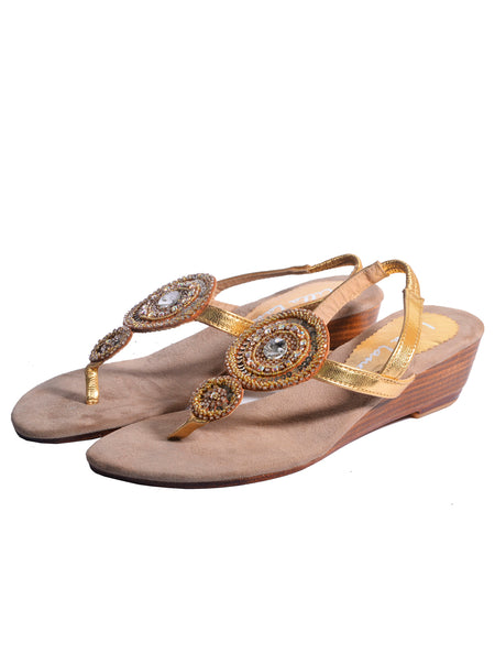 Victoria Double Medallion Mini Wedge