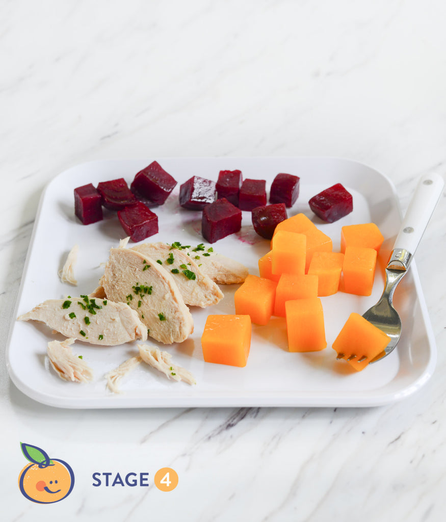 Stage 4 Chicken Breast + Roasted Beets + Butternut Squash Meal